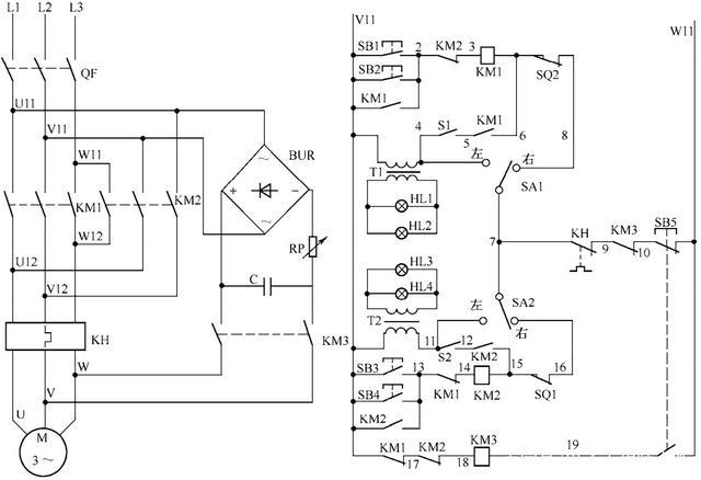 电动阀门控制电路的工作原理